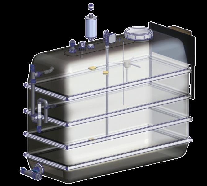 Leyco Wassertechnik - Kunststofftank schwarz Typen RET | RUT